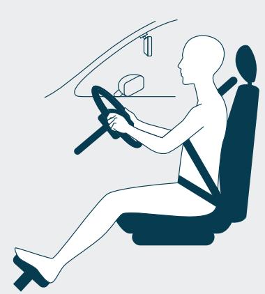 Safe driving position diagram